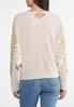 Plus Size Lace Thermal Top alternate view