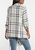 Plus Size Plaid Fringed Jacket alternate view