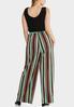 Plus Size Solids And Stripes Jumpsuit alternate view