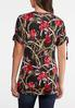 Plus Size Floral Status Ruched Tee alternate view