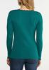Plus Size Ribbed Scalloped Trim Sweater alternate view