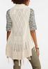 Fringed Crochet Vest alternate view