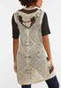 Plus Size Knit Stripe Hooded Vest alternate view