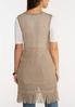Plus Size Fringe Crochet Vest alternate view