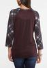 Plaid Henley Top alternate view