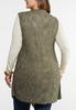 Plus Size Speckled Waterfall Cardigan alternate view