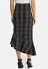 Plus Size Menswear Flounced Skirt alternate view