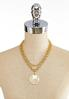 Coin Pendant Chain Link Necklace alternate view
