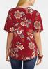 Plus Size Floral Hardware Sleeve Top alternate view