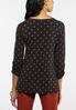 Plus Size Dotted Buckle Cinched Top alternate view