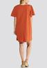 Plus Size Puff Sleeve Swing Dress alternate view