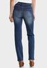 Petite Straight Leg Medium Wash Jeans alternate view