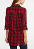 Plus Size Red Buffalo Plaid Top alternate view
