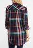 Plus Size Autumnal Plaid Shirt alternate view