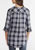 Plaid Zip Front Shirt alternate view