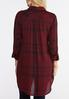 Plaid High- Low Tunic Top alternate view
