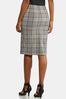 Plaid Tie Pencil Skirt alternate view