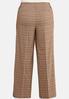 Plus Size Curvy Wide Leg Plaid Pants alternate view