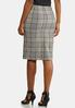 Plus Size Plaid Tie Pencil Skirt alternate view