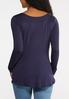 Plus Size Solid Long Sleeve Tee alternate view