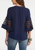Plus Size Mesh Sleeve Pullover Top alternate view