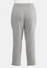 Plus Size Gray Pull- On Pants alternate view