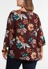 Plus Size Ruffle Sleeve Floral Poet Top alternate view