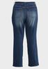Plus Size Straight Leg Medium Wash Jeans alternate view