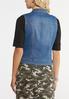 Plus Size Studded Denim Vest alternate view