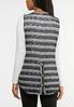 Plus Size Striped Button Back Vest alternate view