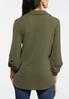 Plus Size Olive Twist Front Top alternate view