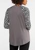 Plus Size She Did Leopard Top alternate view