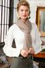 Solid Textured Oblong Scarf alt view