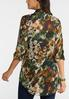 Plus Size Camo Shimmer Top alternate view