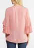 Plus Size Double Ruffle Top alternate view