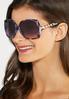 Purple Tortoise Square Sunglasses alternate view