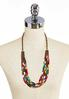 Multi Row Colorful Bead Necklace alternate view