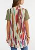 Plus Size Colorful Waterfall Vest alternate view