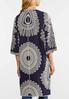 Plus Size Embroidered Navy Kimono alternate view