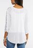 Lace Sleeve White Gauze Top alternate view