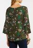 Plus Size Olive Floral Paisley Top alternate view