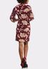 Plus Size Square Neck Floral Dress alternate view