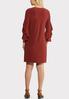 Plus Size Flounce Sleeve Sheath Dress alternate view