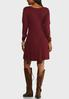 Plus Size Cold Shoulder Sweater Dress alternate view