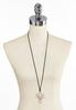 Two- Tone Cross Pendant Cord Necklace alternate view
