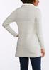 Plus Size Fleece Collar Sweater Jacket alternate view