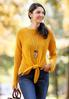 Gold Tie Front Sweater alt view