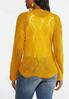 Plus Size Gold Tie Front Sweater alternate view