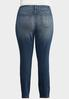 Plus Size Curvy Washed Skinny Jeans alternate view