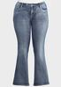 Plus Size Chevron Bling Bootcut Jeans alternate view
